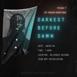 fabienmontique artwork for Pusha Ts Darkest Before Dawn album onhellip