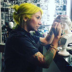 thx for the snap jamiecatino makeupartist setlife bts artist neonhairhellip