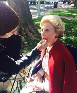 Ladybird bts pic getting Joan touched up before the Thanksgivinghellip