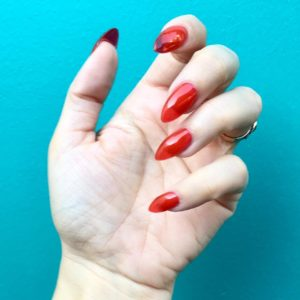 x2665xfe0fx2665xfe0f Red Chrystal Nails by neatonatto using vetrousa Crysta Redhellip